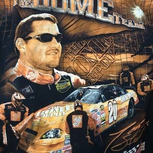 NASCAR Tony Stewart Home Depot Driven to Win Short Sleeve Shirt Graphic L #20